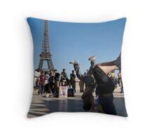 french break-dancing Throw Pillow
