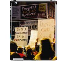 Reclaim The Night March iPad Case/Skin