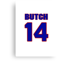 National baseball player Butch Wensloff jersey 14 Canvas Print