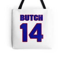 National baseball player Butch Wensloff jersey 14 Tote Bag