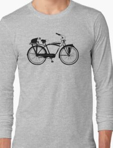 Badger On A Bicycle Long Sleeve T-Shirt