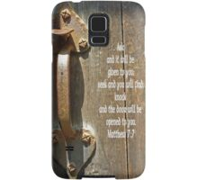 Matthew 7:7 Samsung Galaxy Case/Skin