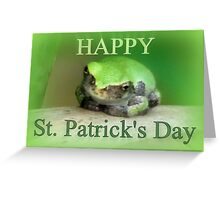 Happy St Patrick's Day - frog wearing the green Greeting Card