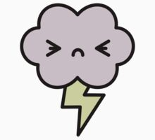 Angry lightning cloud Kids Clothes