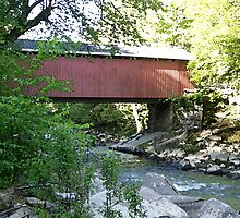 Covered Bridge at McConnells Mill State Park by peggywright