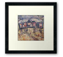 Gondwana encaustic stitched Framed Print