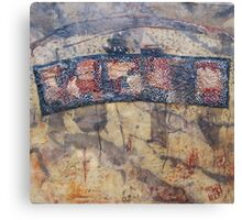Gondwana encaustic stitched Canvas Print