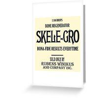 Skele-Gro Label Greeting Card