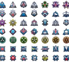 Halo Medal Collection Sticker