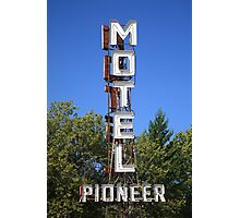 Route 66 - Pioneer Motel Photographic Print