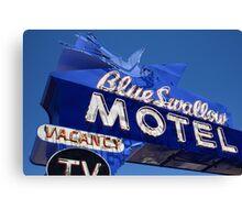 Route 66 - Blue Swallow Motel Neon Canvas Print