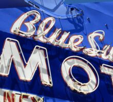 Route 66 - Blue Swallow Motel Neon Sticker
