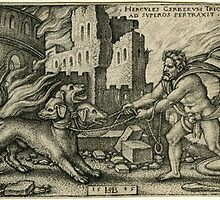 Hercules capturing cerberus by chord0