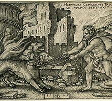 Hercules capturing cerberus by chord0