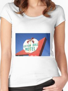 Route 66 - Cotton Boll Motel Women's Fitted Scoop T-Shirt
