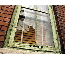 Broken Window Photographic Print