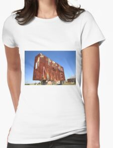 Route 66 - Western Motel Neon Womens Fitted T-Shirt