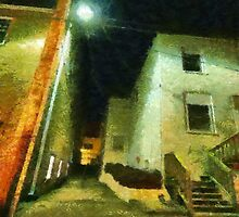 Night Alleyway by Jean Gregory  Evans