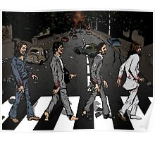 Zombie Abbey Road Poster