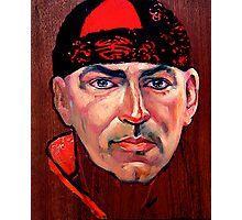 Tim McKew, Cabaret Artist - original oil painting on Jarrah Photographic Print