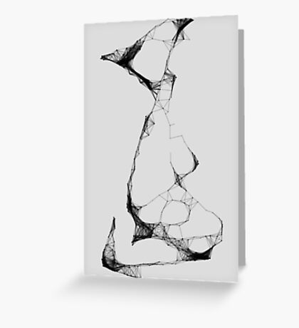 Abstract Pose Greeting Card