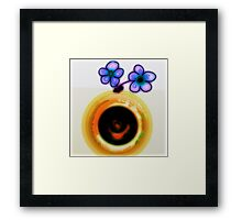 Photo flipped, Sink drain, into FLOWERS and VASE Framed Print