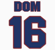 National baseball player Dom Dallessandro jersey 16 by imsport