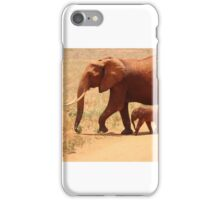 African Elephant Family iPhone Case/Skin