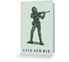 Plastic Soldiers Greeting Card