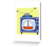 simpsons tv Greeting Card