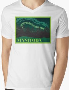Manitoba Mens V-Neck T-Shirt