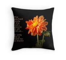 The Lord's Creation Throw Pillow