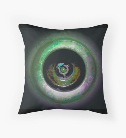 FLIPPED photo art, multicolor 3d look Throw Pillow