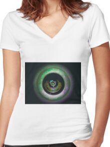 FLIPPED photo art, multicolor 3d look Women's Fitted V-Neck T-Shirt