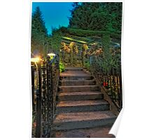 Butchart Gardens at Night 1 Poster