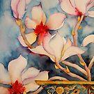 Magnolias in Vintage Vase 'Still Life' © Patricia Vannucci 2008 by PERUGINA
