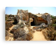 Rock Tomb Canvas Print