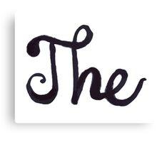 "A ""The"" Canvas Print"