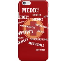 Press 'E' For Medic- RED iPhone Case/Skin