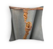 Rusty Wire Throw Pillow