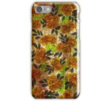 GRUNGE FLOWERS 1 Colorful Avocado Grass Green Brown Beige Pink Floral Pattern Abstract Flowers iPhone Case/Skin