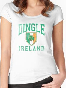 Dingle, Ireland with Shamrock Women's Fitted Scoop T-Shirt
