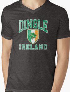 Dingle, Ireland with Shamrock Mens V-Neck T-Shirt