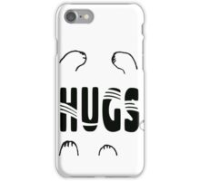 Whimsical Cat Paw Hugs iPhone Case/Skin