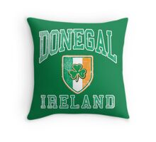 Donegal, Ireland with Shamrock Throw Pillow