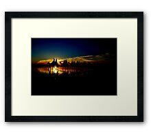 Dark Camels Framed Print