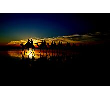 Dark Camels Photographic Print