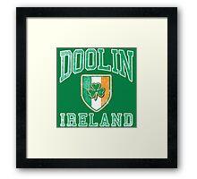 Doolin, Ireland with Shamrock Framed Print