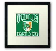 Doolin, Ireland with Shamrock Framed Print