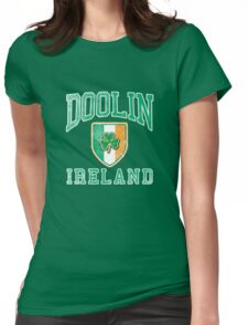 Doolin, Ireland with Shamrock Womens Fitted T-Shirt